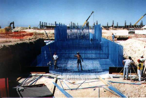 The water plant at Larnaca was protected with epoxy coated reinforcement.