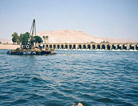 Water levels have been raised by 4m with the completion of the new Naga Hammadi barrage.
