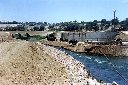 Sullana dam during construction. (Image courtesy of Energoprojekt)