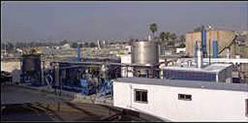 The Sludge-To-Oil Reactor System (STORS) and Ammonia Recovery Process (ARP) pilot plant located in Colton, California.