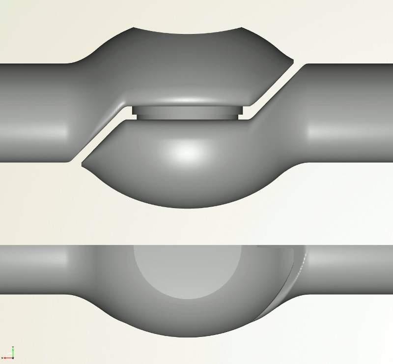 control valve cad geometry