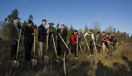 The Klallam people have thrown their support wholeheartedly behind the restoration project
