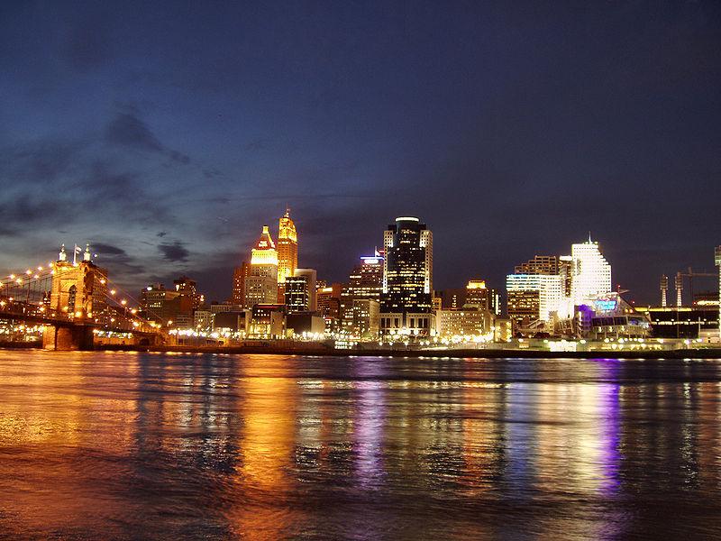 Cincinnati city from across Ohio River