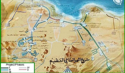 Great Man-Made River Libya pipeline water project Gaddafi