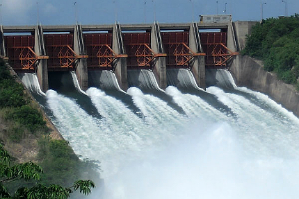 Akosombo is the world's largest dam in terms of water storage capacity