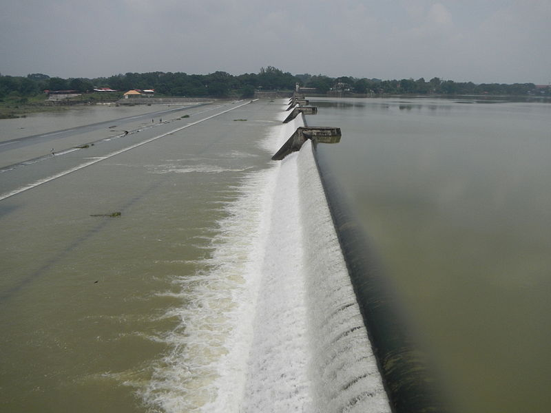 Angat Dam in the province of Bulacan, Philippines