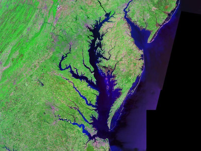 Satellite picture of Chesapeake Bay