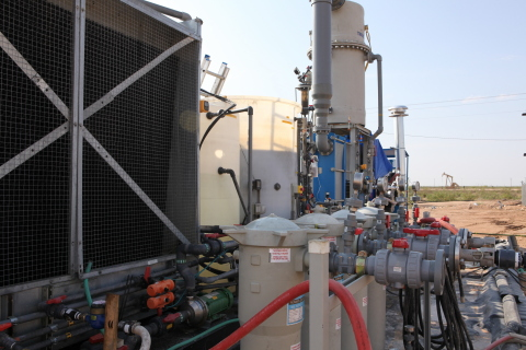 TurboFrac produced water recycling system