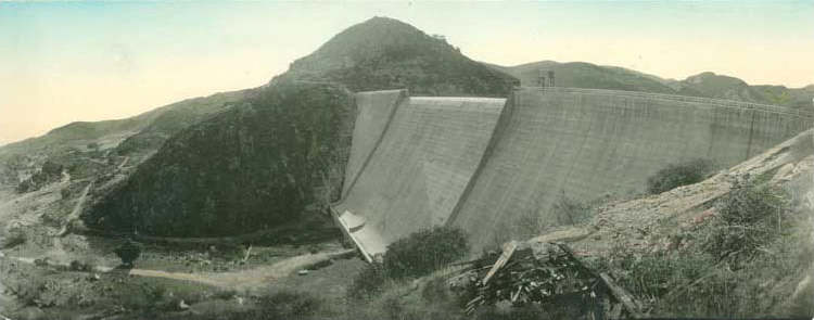 The San Vicente Dam in 1950